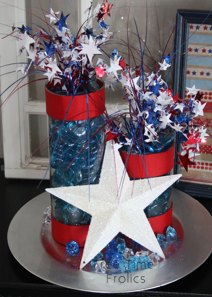 DIY 4th of July firecrackers decor | 4th of July | Pinterest