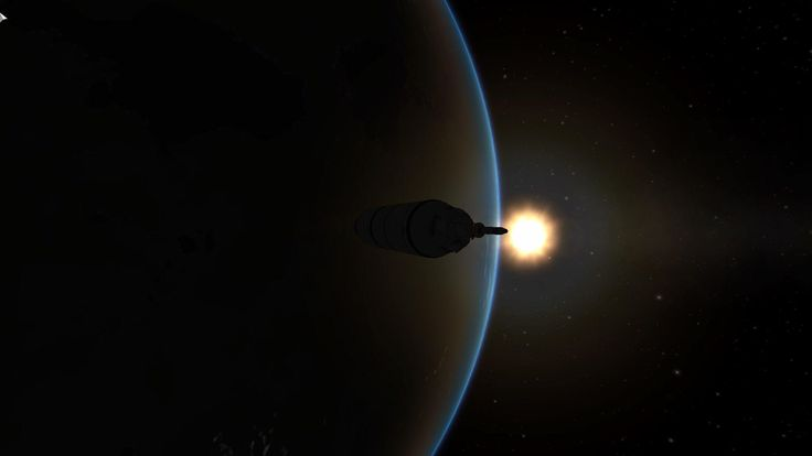 A cool background pic I took in kerbal space program. (Sorry about the cursor in the corner)