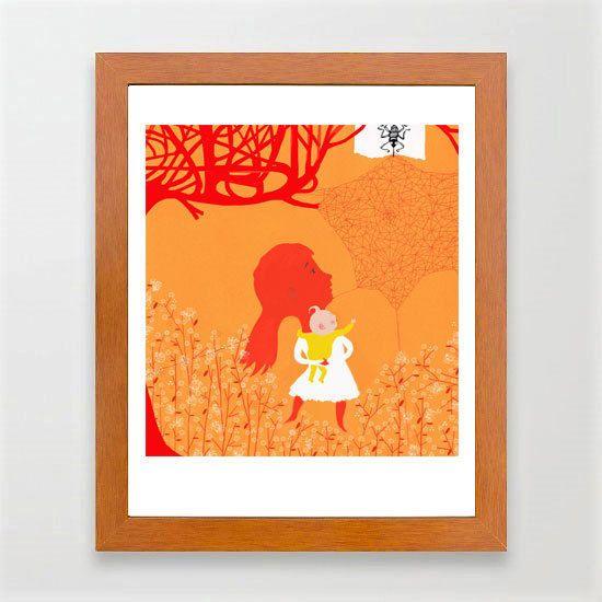 Discoveries-#Illustration#Baby #Woman#Art #Print#Decor