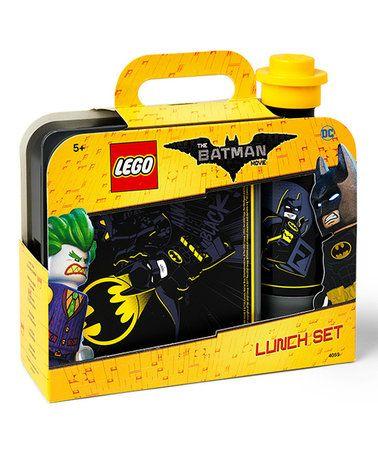 This LEGO Batman Lunch Box & 14-Oz. Water Bottle is perfect! #zulilyfinds
