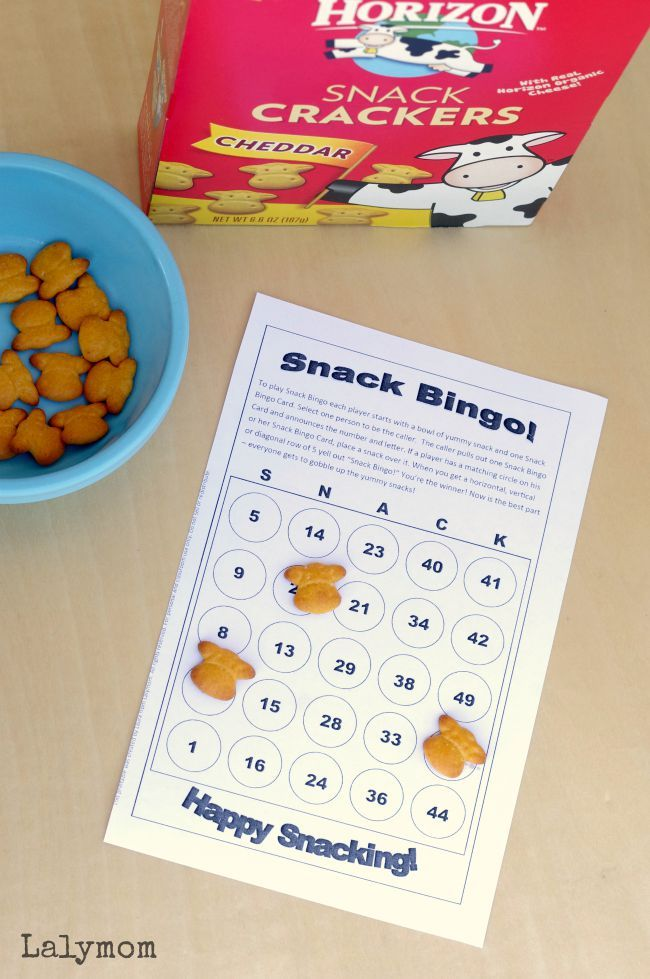 6 Page Printable Snack Games Pack - Fun Activities for Kids, Just Print and Play! #horizonsnacks #ad