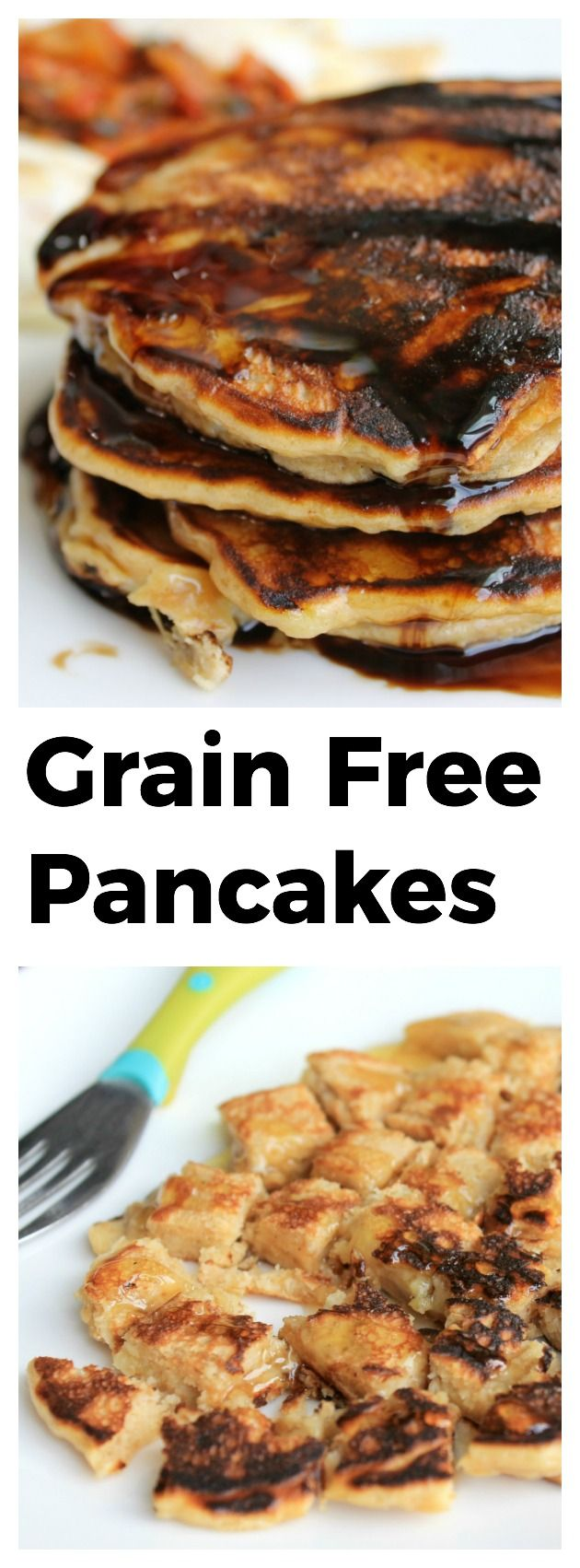 Grain Free Pancakes: These pancakes come together easily with just 3 ingredients. They are guilt free, filled with healthy fats, and completely void of sugar when topped with blueberry balsamic instead of maple syrup. GAPS Diet & Paleo friendly. Our oldest daughter (she is a few months away from her 3rd birthday) has loved pancakes since about 10 months old. I started making pancakes for her out of just egg
