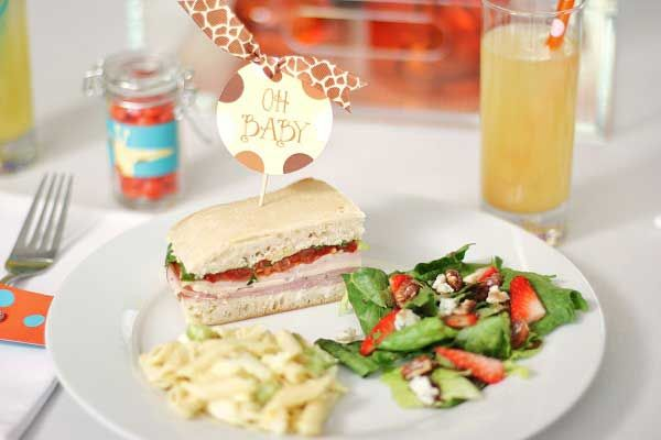 Quick & Simple Baby Shower Lunch Menu