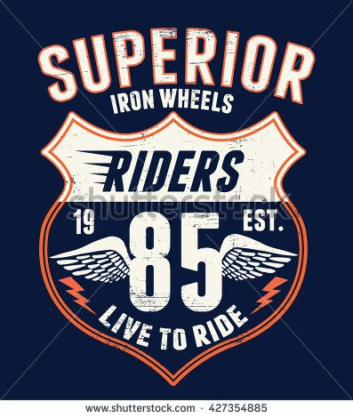 Superior Motorcycle typography  t-shirt graphics, vectors.
