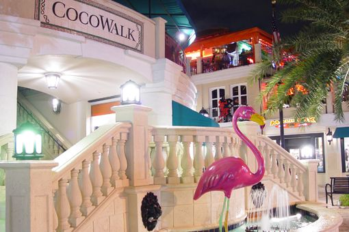 Coconut Grove, FL also known as Cocowalk or The Grove. Great restaurants, shops, and bars.