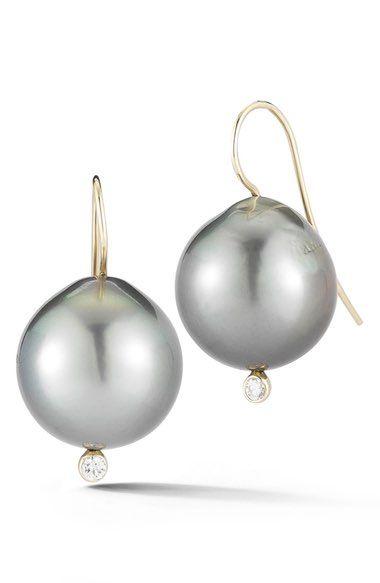 Limited Edition Black Tahitian Pearl Drop Earrings Mizuki tSTU5wWe
