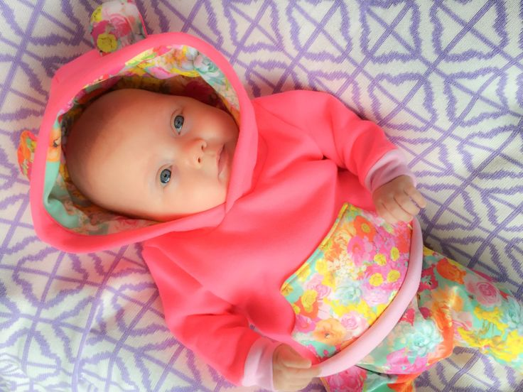 BABY APPAREL || neon floral hoodie now available at www.cassielouise.com.au
