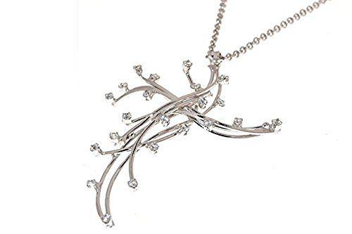 EveryDayGioielli Collana con croce pendente in argento 925 con pietre swarovski gioiello rodiato in oro bianco e con catena rolo lunga 45 cm made in Italy, http://www.amazon.it/dp/B01LYOBGZ9/ref=cm_sw_r_pi_awdl_x_WHR7xb6VE7SED
