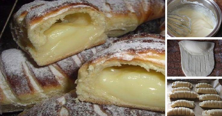 Jemné ako pavučinka: Kysnuté rožteky s vanilkovým krémom