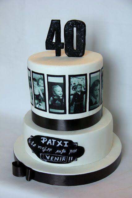 SORELLAS CAKES TARTAS PAMPLONA : Tarta 40 años - Pamplona / Navarra