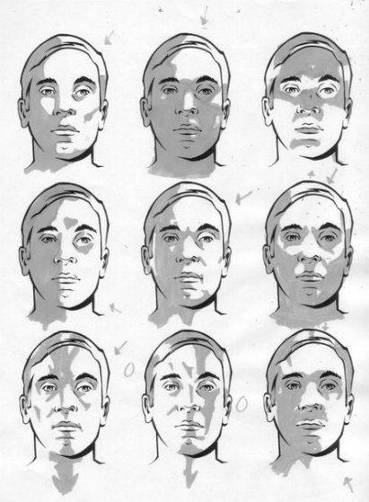 Zeichnen lernen - Licht und Schatten im Portrait-dekoking-com-3 (Diy Face Art)