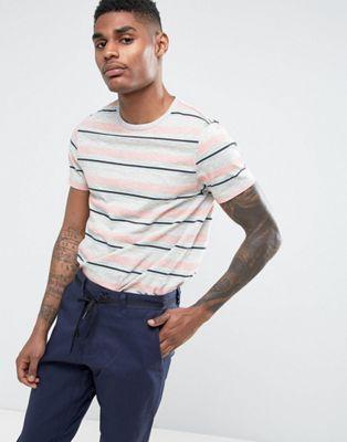 ASOS Stripe T-Shirt In Slub Fabric