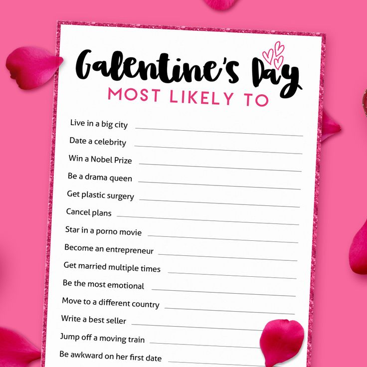 Most Likely to Galentine's Printable Game Print at Etsy