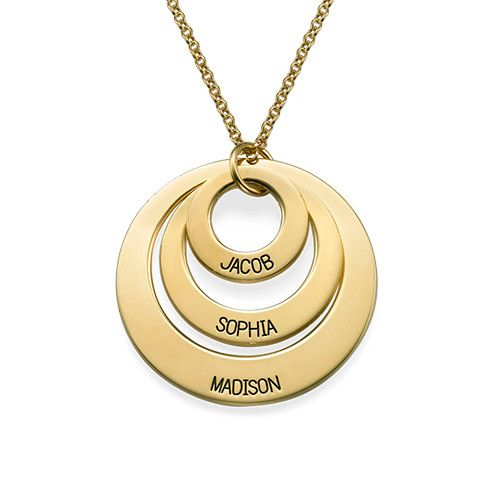 Jewelry for Moms - Three Disc Necklace in 18k Gold Plating Perfect if you're looking for mother's day gifts!