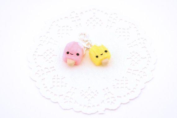 Kawaii Pink or Lemon Popsicle Planner Charm - Polymer Clay Charm - Kawaii Planner Accessories - Planner Charm - Kawaii Wedding