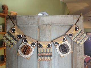 How cute is this owl banner made from brown paper bags!!