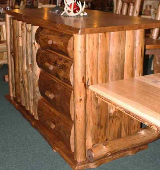 Cabin Log Bars Furniture Rustic Log Cabin Style