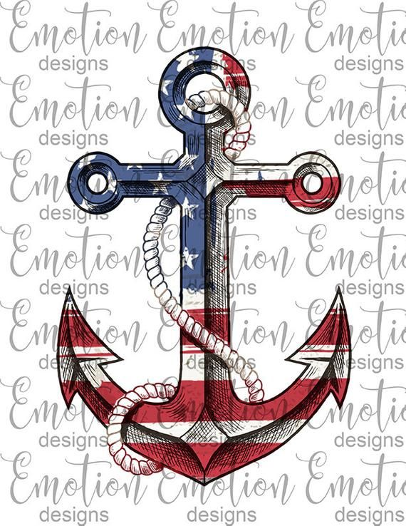 American Flag Anchor Clipart Instant Download Sublimation Etsy In 2020 American Flag Tattoo Anchor Drawings Clip Art