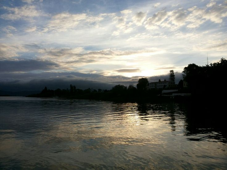 Atardecer en costanera de Valdivia
