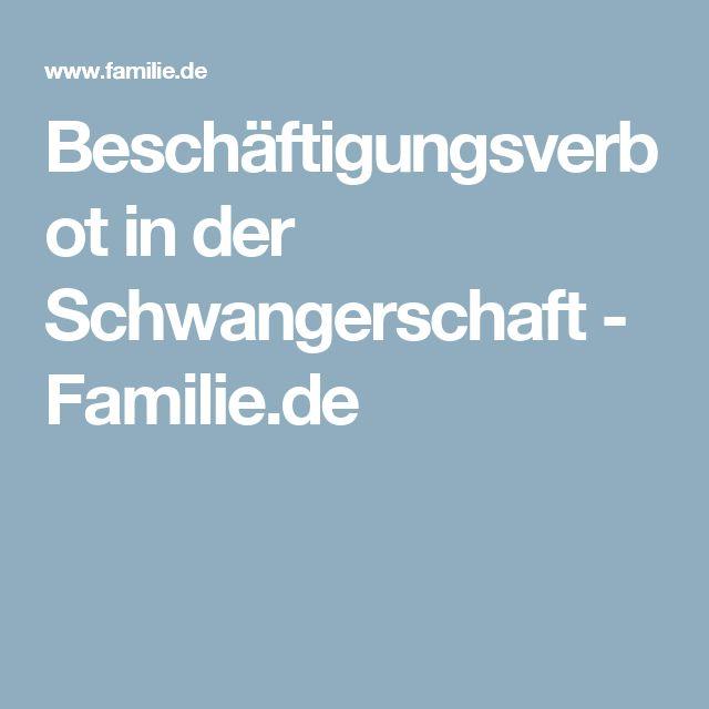 Beschäftigungsverbot in der Schwangerschaft - Familie.de