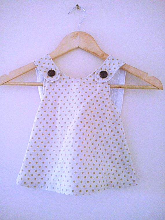Girl's pinafore dress and matching pants 6  12months by LOLAsHome, $45.00