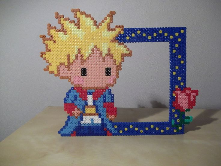 The little prince photo frame made of beads by capricornc5 on deviantart