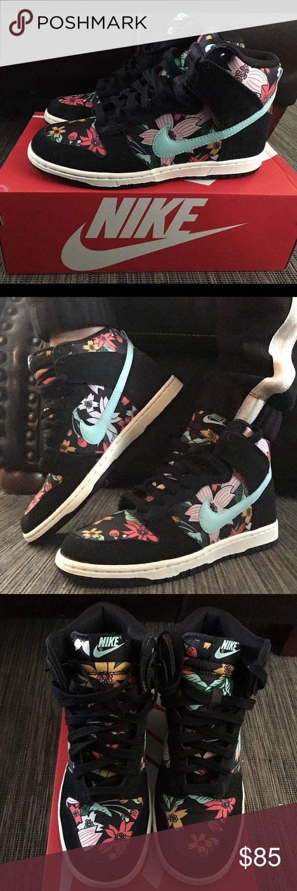 Nike Dunks Nike Dunk Aloha, never worn comes with box. Super cute print! Nike Shoes