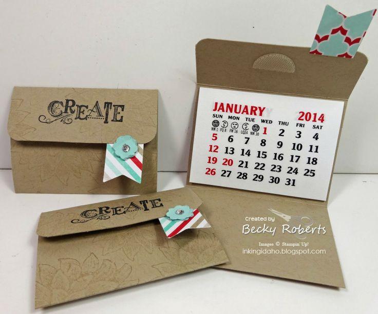 Calendar Making Ideas : Inking idaho thank you calendars stampin up d