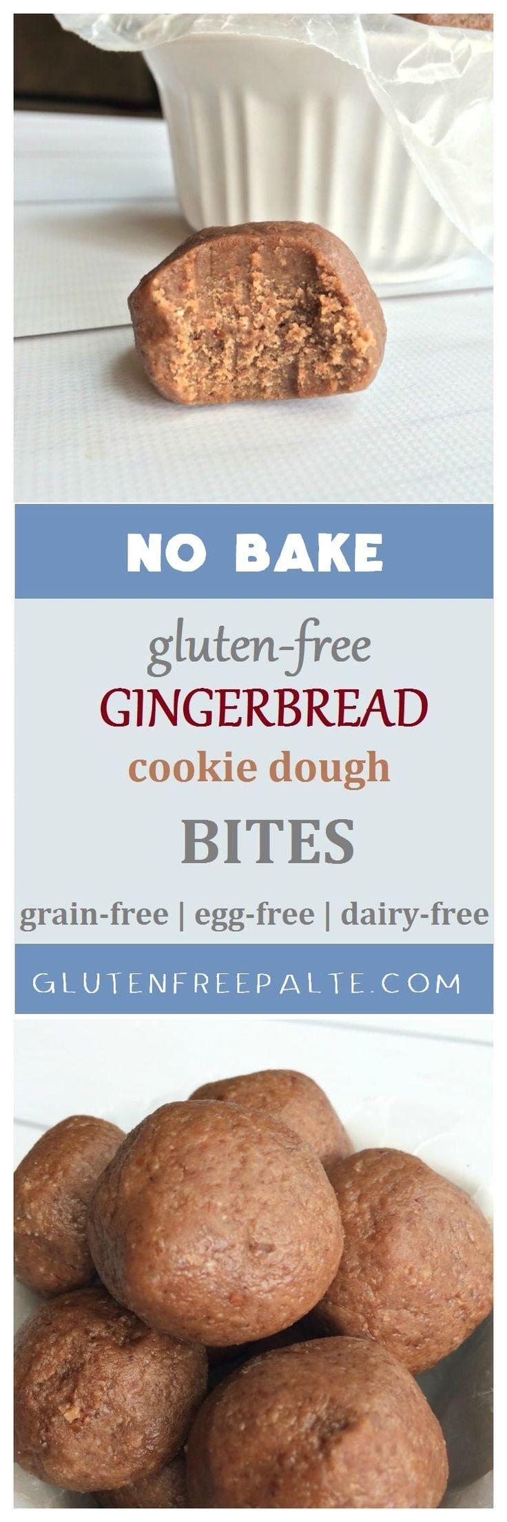 No Bake Gluten Free Gingerbread Cookie Dough Bites