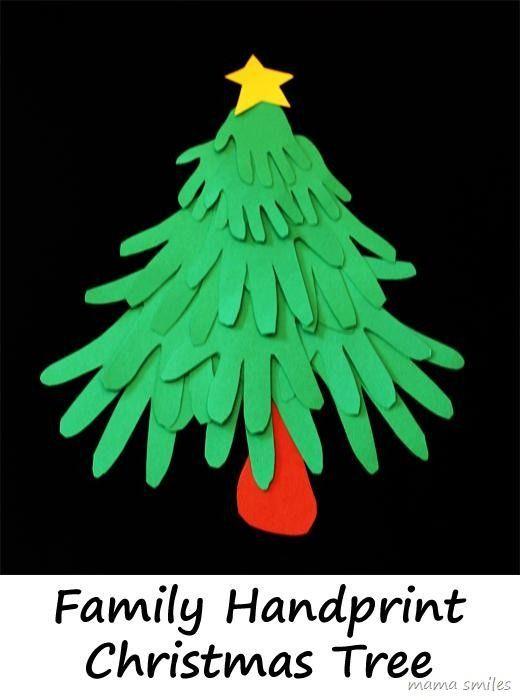 Family Handprint Christmas Tree