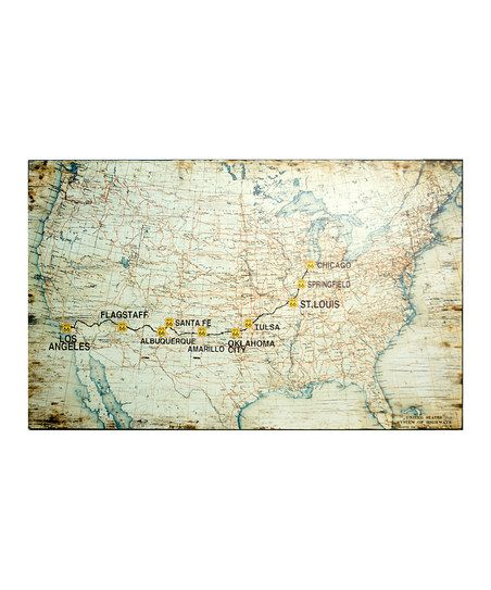 Route 66 US Map