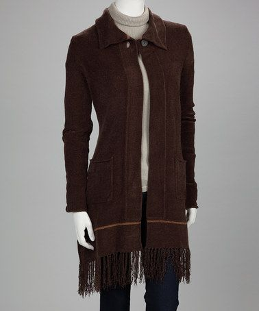 Take a look at this Brown Chantal Duster by Kial on #zulily today!