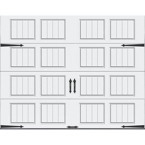 Ideal Door® Carriage House 9 ft. x 7 ft. White Premium Insulated Garage Door at Menards®: Ideal Door® Carriage House 9 ft. x 7 ft. White Premium Insulated Garage Door