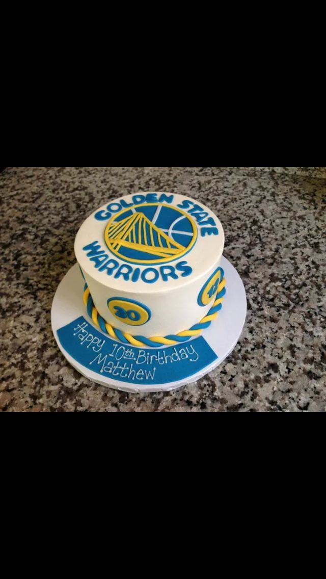 19 best Golden State Warrior cakes images on Pinterest Golden