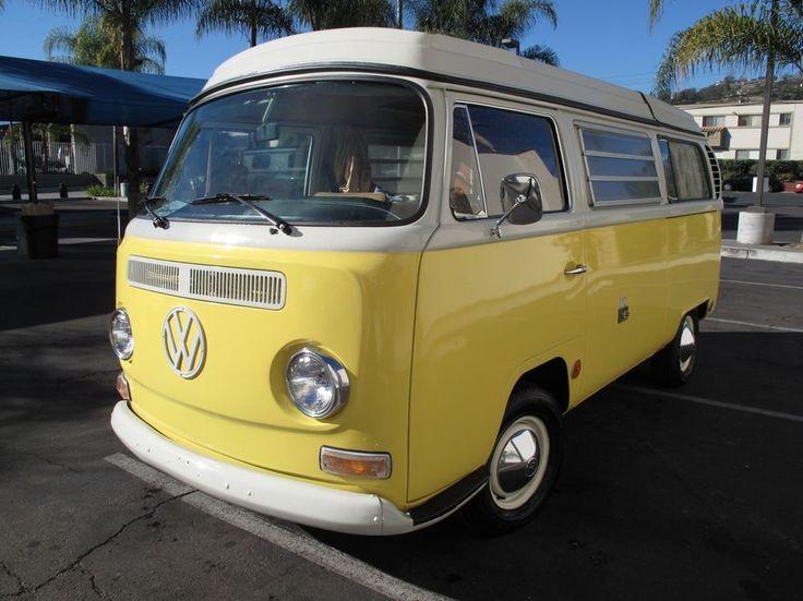 1969 yellow white fully restored t2 vw camper vans campers. Black Bedroom Furniture Sets. Home Design Ideas