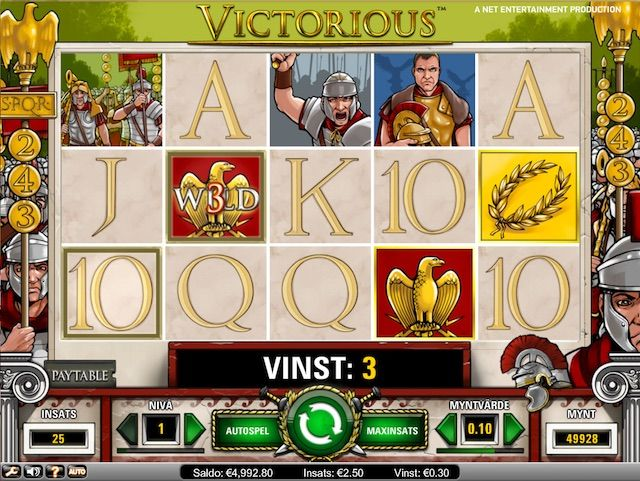 Spela Victorious med bonus och freespins på Leo Vegas Casino