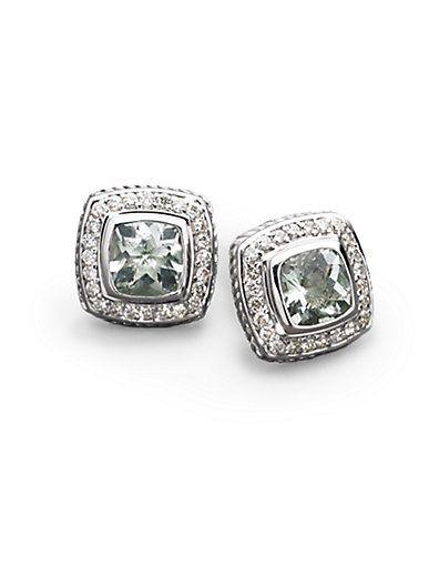 David Yurman diamond studs. gorgeous. classy. Totally