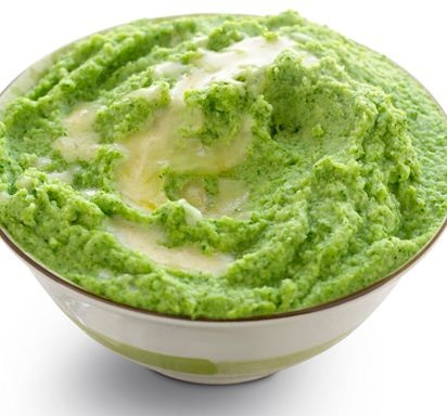 Broccoli Puree with Garlic Brown Butter.