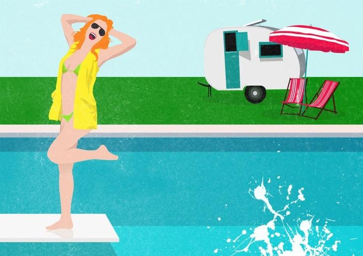 summer illustration by :puntoos