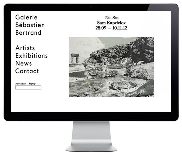 Sébastien Bertrand Gallery identity designed by Neo Neo.