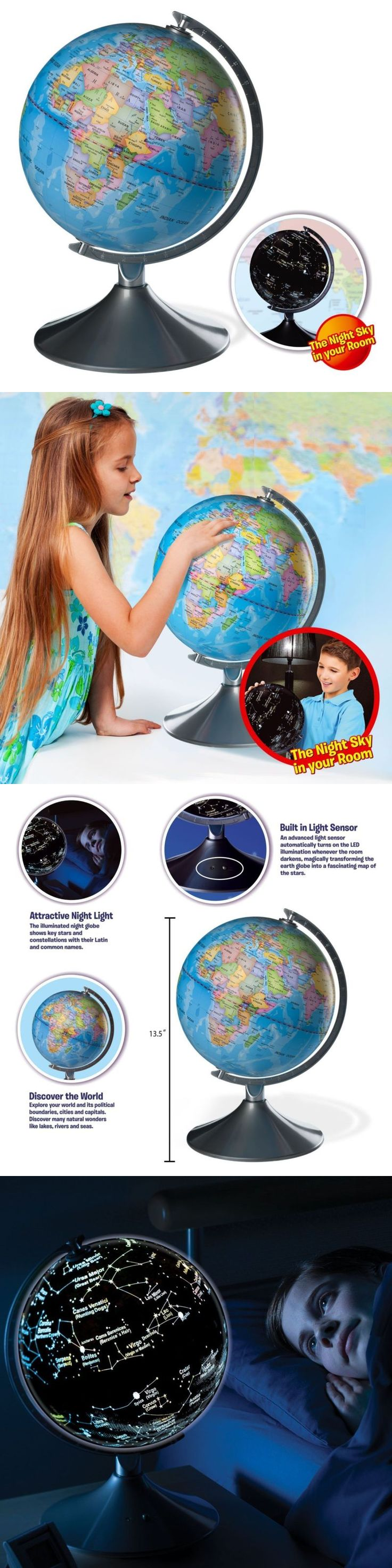 Geography and History 11733: Interactive Globe For Kids, 2 In 1, Day And Night View Illuminated -> BUY IT NOW ONLY: $71.99 on eBay!