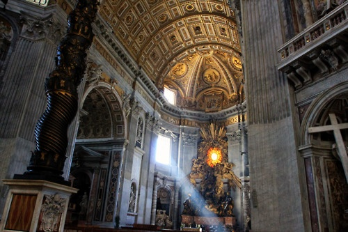 This is where the Pope goes to church. St. Peter's Basilica