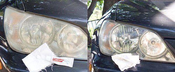 19 astuces pour la voiture ...Comment utiliser le dentifrice pour nettoyer les phares ?