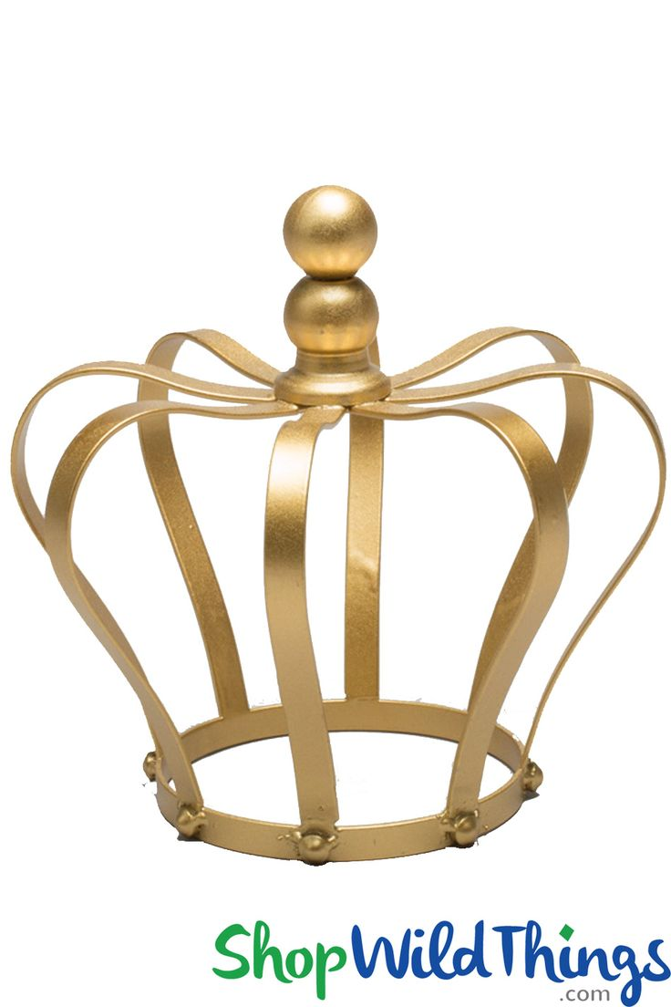 Whether your event is formal and sophisticated or relaxed and playful, our new Decorative Shiny Gold Crown will be the hit of your centerpiece designs and can also add height and dazzle to the top of a