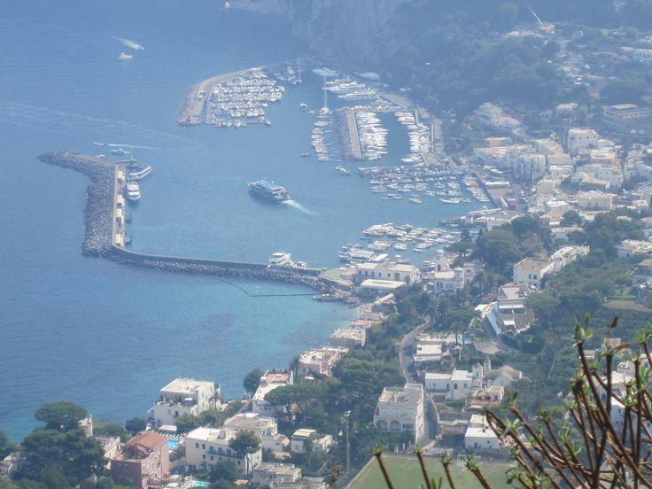 Svindlande vy från Capri