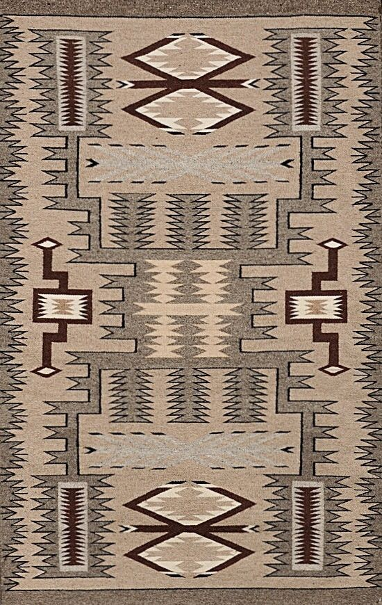 description navajo storm pattern weaving x hand woven wool native american rug condition very good size x