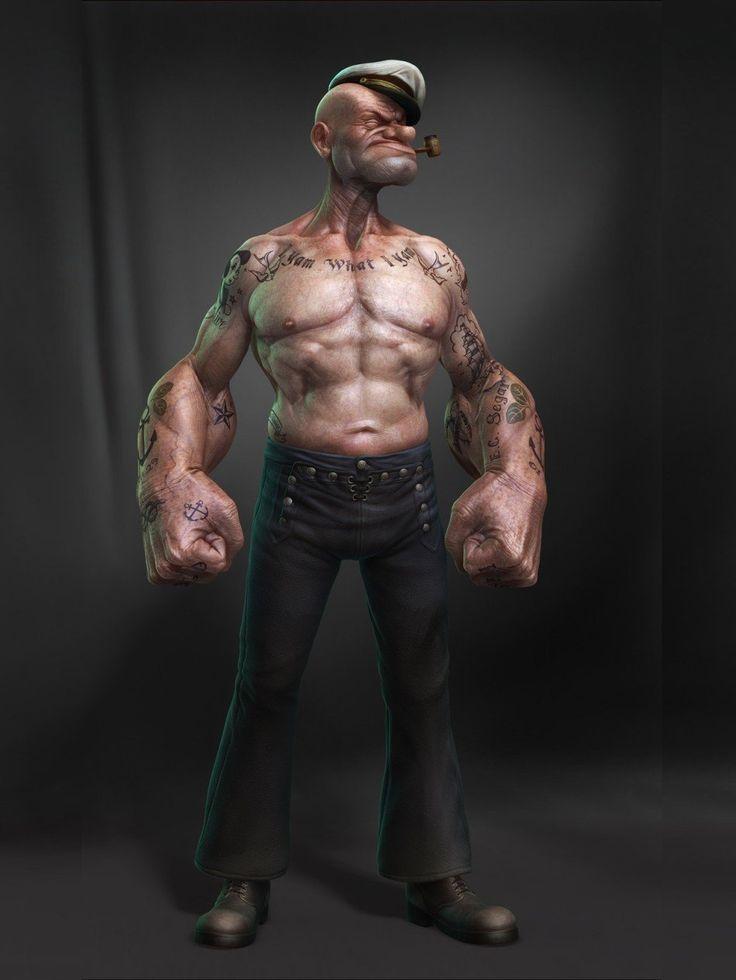 Trending-popeye-tattoo-sailor-tattoos-old-school-tattoo