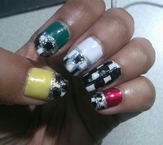 My nails for Saturday race day! #Indycar #2inTO #racing #nails
