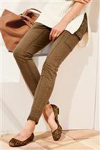 Zip Detail Cargo Trousers