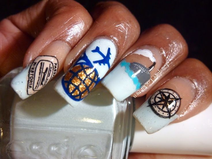 109 best winstonia stamping nail images on pinterest nail travel nail art feat winstonia on the road nail art stamping plate prinsesfo Images